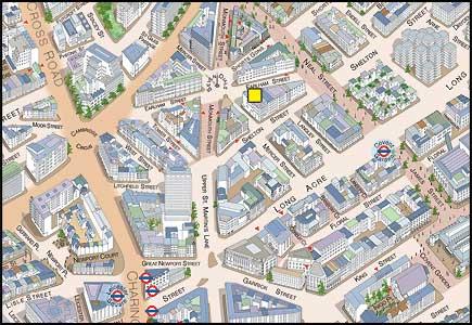Cambridge Theatre London Map