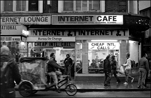 Internet Café in Covent Garden