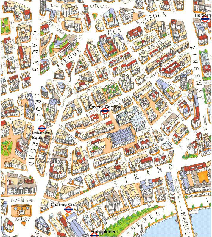 Covent Garden London Maps To Print