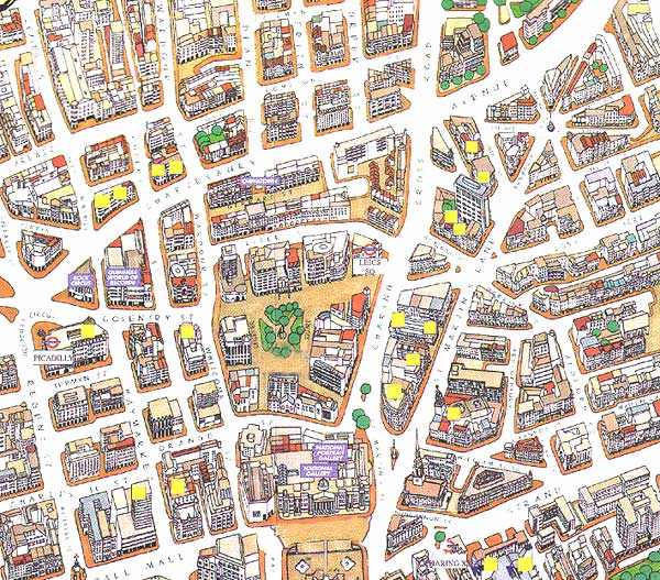 Map of Shops in Covent Garden London Covent Garden Map